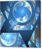 Sienna Blue Honeycomb Canvas Print