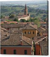 Sienna Rooftops Canvas Print
