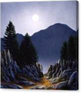 Sierra Moonrise Canvas Print