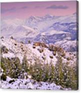 Sierra Nevada At Sunset Canvas Print