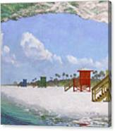 Siesta Key Curl Canvas Print