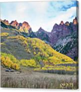 Sievers Peak And Golden Aspens Canvas Print