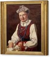 Sigfrid August Keinanen, Woman Standing. Canvas Print