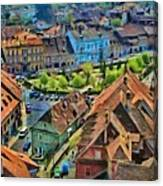 Sighisoara From Above Canvas Print
