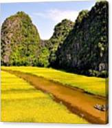 sighseeing on Ngo Dong river Canvas Print