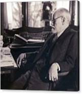 Sigmund Freud Seated In His Study Canvas Print