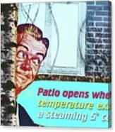 Sign In Window Of The Big Lebowski Bar Reykjavik Iceland 2 332018 2118.jpg  Canvas Print