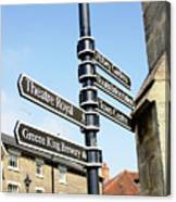Sign Posts In Bury St Edmunds Canvas Print