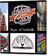 Signs Of Nashville Canvas Print
