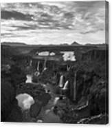 Sigoldufoss Waterfalls Iceland 1291 Canvas Print