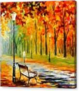 Silence Of The Fall Canvas Print