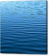 Silent Blue Tranquility Canvas Print