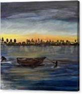 Silent Night At Sea Canvas Print