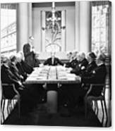 Silent Still: Board Meeting Canvas Print