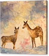 Silent Visitors Canvas Print