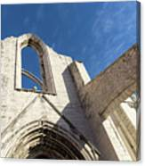 Silent Witness - Carmo Convent Roofless Ruin In Lisbon Portugal Canvas Print