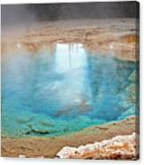 Silex Spring Fountain Paint Pot Yellowstone National Park Wy Canvas Print