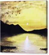 Silhouette Lagoon Canvas Print
