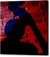 Silhouette Of A Jazz Musician 1964 Canvas Print