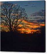 Silhouette Sunset 004 Canvas Print