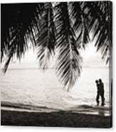 Silhouetted Couple Canvas Print