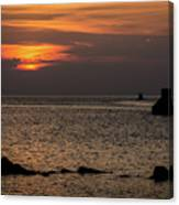 Silhouetted North Pier  Canvas Print