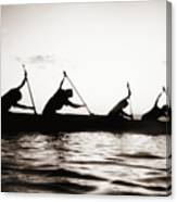 Silhouetted Paddlers Canvas Print