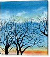 Silhouettes Against The Sky Canvas Print