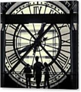 Silhouettes At Musee D'orsay Canvas Print
