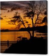 Silhouettes At Sunrise Canvas Print