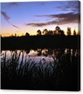 Silhouettes Of Sunrise Canvas Print