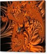 Silk in Orange Canvas Print