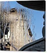Silken Fountain Curtain -  Canvas Print