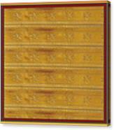 Silken Gold Border Stripes With Jewel Imprint Elegant Border Energy Healing Art By Navinjoshi Finear Canvas Print