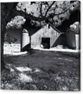 Silo In Black And White Canvas Print
