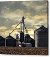 Silo In The Clouds Canvas Print