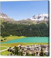 Silvaplana In Canton Graubunden, Switzerland Canvas Print