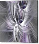 Silver Abstract Ascension. Mystery Of Colors Canvas Print
