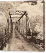 Silver Bridge Antique Canvas Print