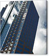 Silver Building Canvas Print