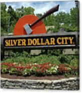 Silver Dollar City Sign Canvas Print