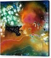 Silver Dreams Of The Desert Canvas Print