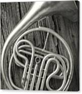 Silver French Horn Canvas Print