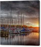Silver Harbor Skies Canvas Print