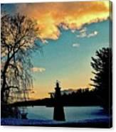 Silver Lake Sundown Canvas Print