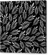 Silver Leaf Pattern 2 Canvas Print