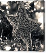 Silver Star Canvas Print