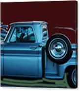 Silver Truck Canvas Print