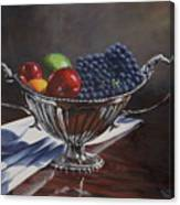 Silvered Fruit Canvas Print