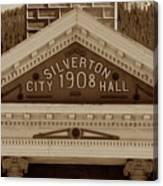 Silverton City Hall 1908 Canvas Print